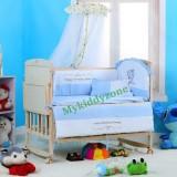 เตียงนอนเด็ก เตียงไม้แท้ผลิตจากไม้สนนิวซีแลนด์ ลายเบาะมีให้เลือกได้ ปรับเป็นโต๊ะ ปรับเป็นเปลไกวได้