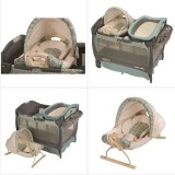 เตียง เด็ก Graco Pack 'n Play Playard Cuddle Cove Rocking Seat (Winslet)