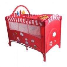 เปลเพน หรือเตียงเด็กแบบผ้า (Playpen) ยี่ห้อ Hope Baby รุ่น 2 ชั้น ปรับใช้ได้หลายฟังก์ชัน พร้อมมุ้งครอบ บาร์ของเล่น ชั้นเปลี่ยนผ้าอ้อม และกระ