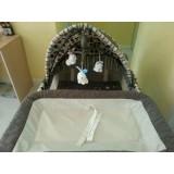 เตียงเด็กเพลแพนสภาพใหม่มาก 3800 บาท
