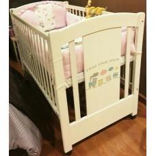 เตียงเด็ก Kitso พร้อมพูกใหม่มาก ใช้แค่ 14 เดือน เครื่องนอนครบ