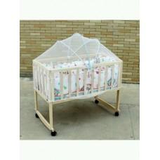 BE314   เตียงเด็ก - เปลไกว  ที่นอน - มุ้ง 90คูณ50ซม  ไม่มีฟูกกันกระแทกด้านข้างนะคะ